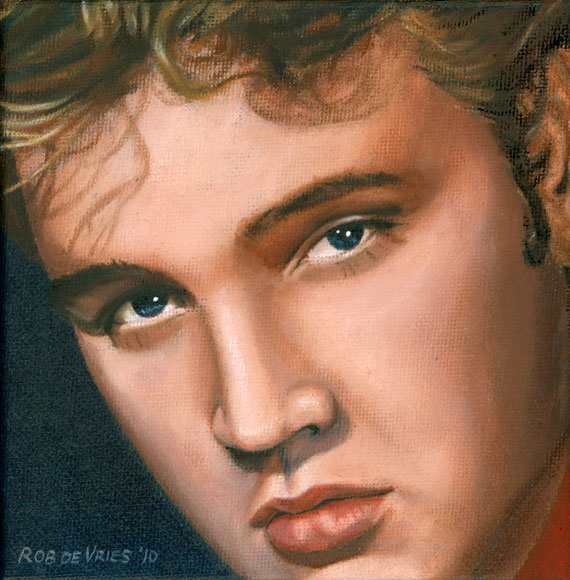 Elvis 24 1955, painting by Rob de Vries
