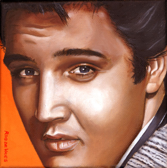 Elvis 24 1957, painting by Rob de Vries