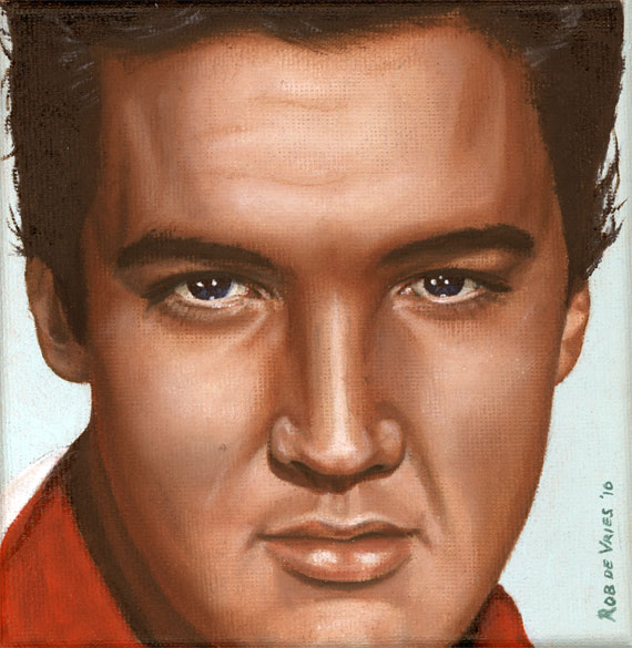 Elvis 24 1958, painting by Rob de Vries