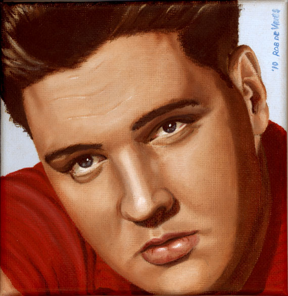 Elvis 24 1959, painting by Rob de Vries