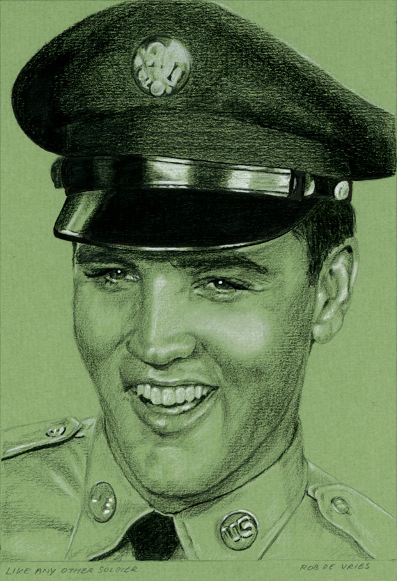 EIC#79 Like any other Soldier, elvis drawing by Rob de Vries