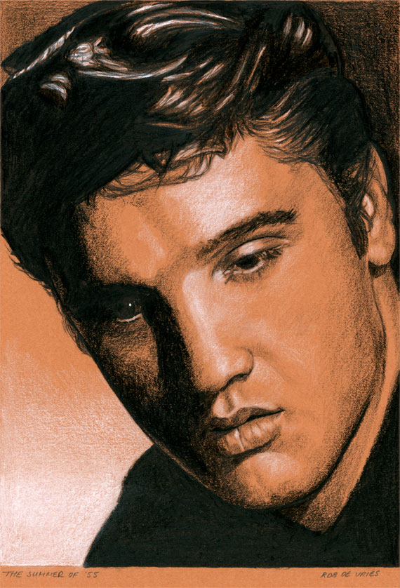 EIC#82 The Summer of '55, elvis drawing by Rob de Vries