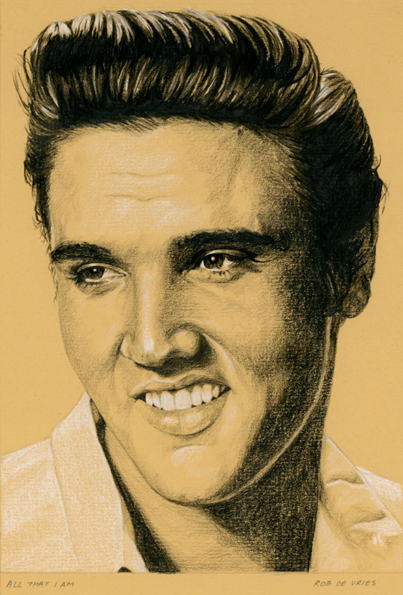 EIC#115 All that I am, elvis drawing by Rob de Vries