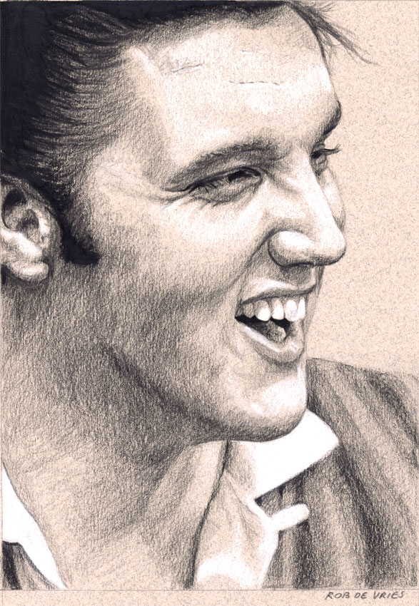 EIC#230, elvis drawing by Rob de Vries