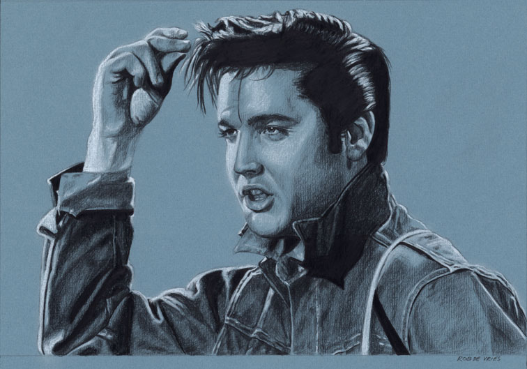EIC#231, elvis drawing by Rob de Vries