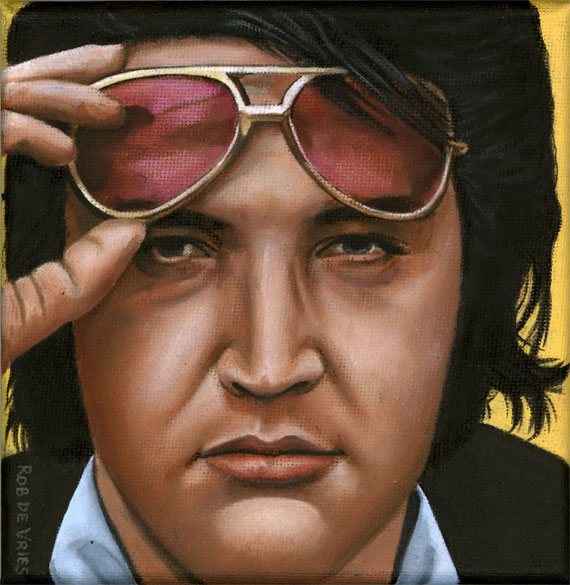 Elvis '68, elvis drawing by Rob de Vries
